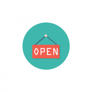 open, icon, sign